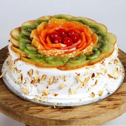 Creamy Vanilla Fruit Cake 1.5 Kg