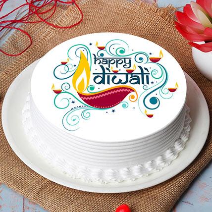 Deewali Blessings Chocolate Cake