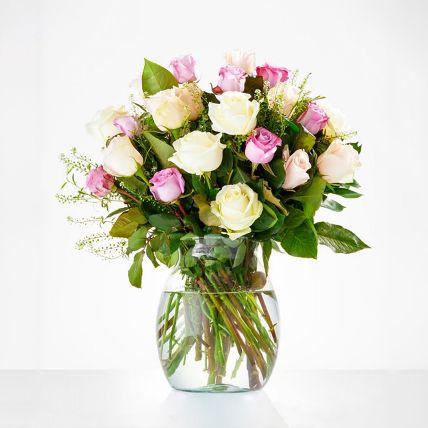 Delightful Assorted Rose Vase Arrangement