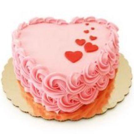 Delightful Heart Vanilla Cake Half Kg