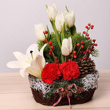 Elegant Christmas Flower Arrangement