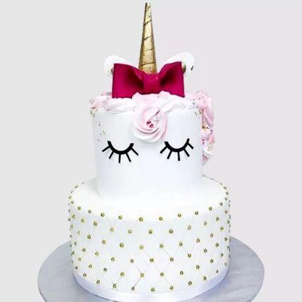 Elegant Unicorn Layered Vanilla Cake 2 Kg