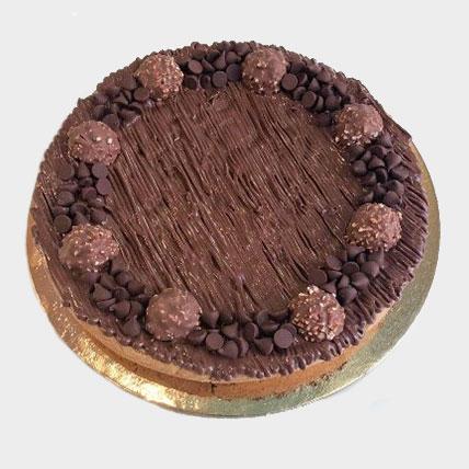 Ferrero Rocher Topping Chocolate Chip Cookie Cake