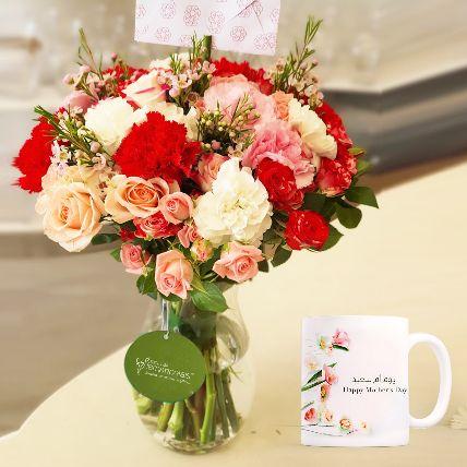 Floral Arrangement With Mothers Day Mug