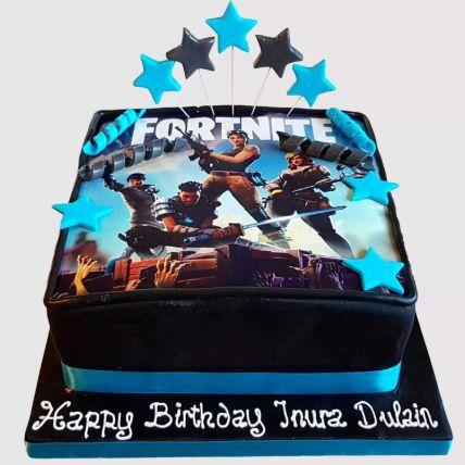Fortnite Battle Fondant Red Velvet Cake 1.5 Kg