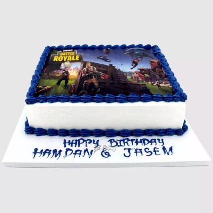 Fortnite Battle Red Velvet Cake 1.5 Kg