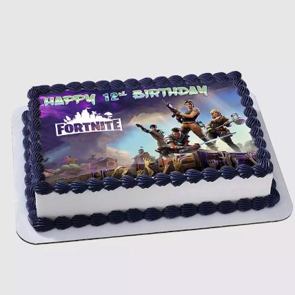 Fortnite Birthday Chocolate Cake 1 Kg