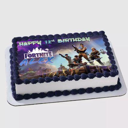 Fortnite Birthday Vanilla Cake 1.5 Kg