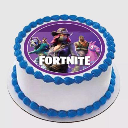 Fortnite Round Red Velvet Cake 1.5 Kg