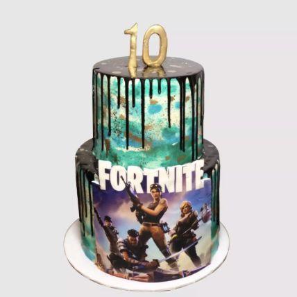 Fortnite Theme Cake Chocolate Cake 3 Kg