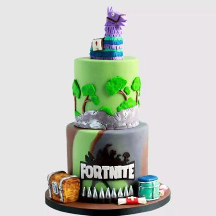 Fortnite Treasure Chest Red Velvet Cake 2 Kg