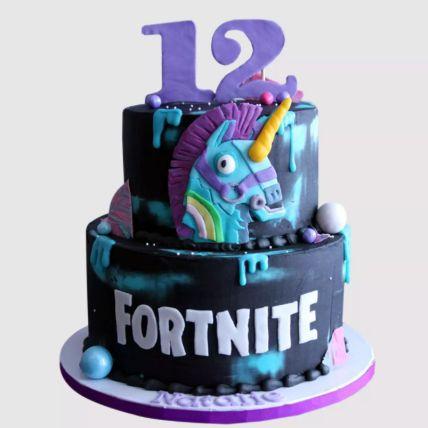 Fortnite Unicorn Cake Red Velvet Cake 3 Kg