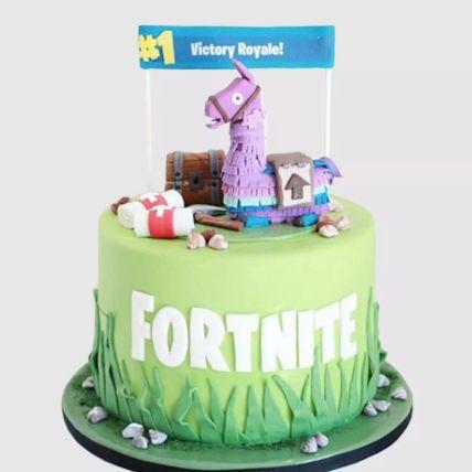 Fortnite Unicorn Floaties Vanilla Cake 2 Kg