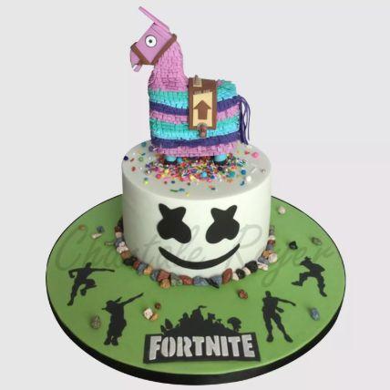 Fortnite Unircorn Fondant Red Velvet Cake 2 Kg
