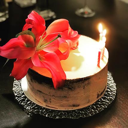 Fresh Floral Chocolate Cake 8 inches