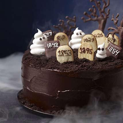 Graveyard Chocolate Cake