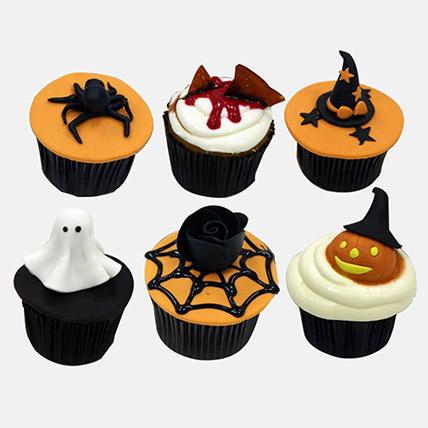 Halloween Themed Chocolate Cupcakes