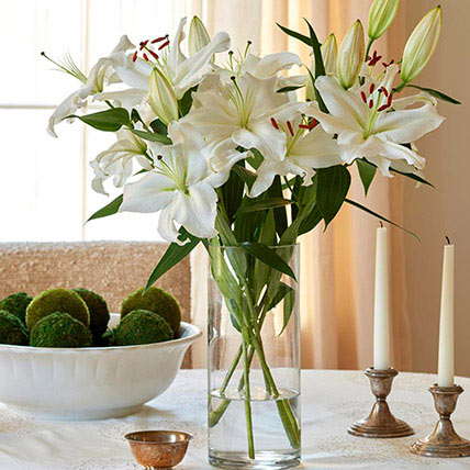 Happiness With Lilies Arrangement