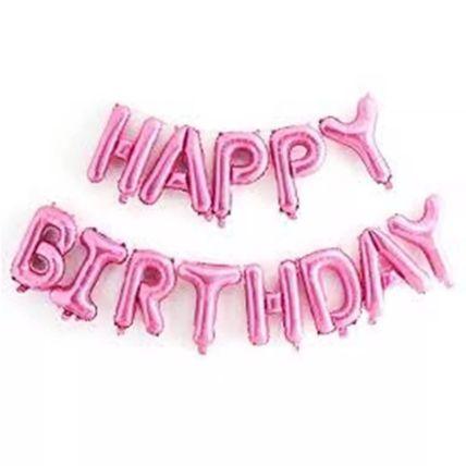 Happy Birthday Alphabet Balloon Set