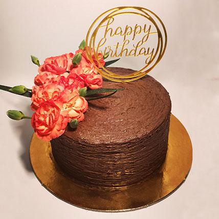 كيكة عيد ميلاد سعيد بالشوكولاتة- نصف كجم