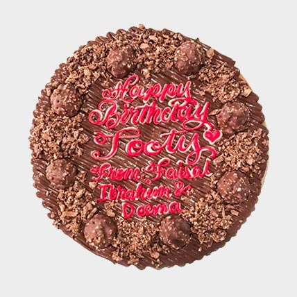 Happy Birthday Chocolate Cookie Cake