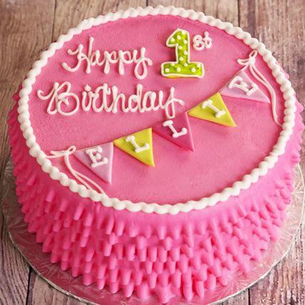 Happy First Birthday Vanilla Cake 1 Kg