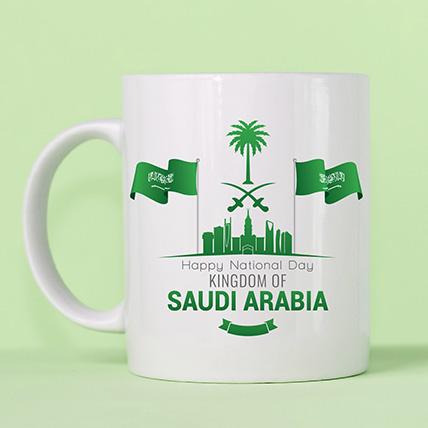 كوب مطبوع ليوم وطني سعودي سعيد