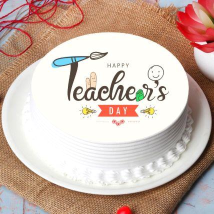 Happy Teachers Day Cake Half Kg