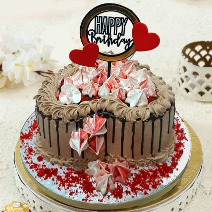 Heart Shaped Chocolate Buttercream Cake 12 Portions