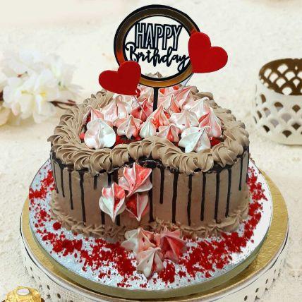 Heart Shaped Chocolate Buttercream Cake 16 Portions