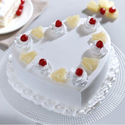 Heart Shaped Pineapple Cake 1.5 Kg