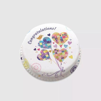 Hearty Congratulations Cake 1.5 Kg