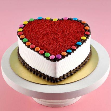Hearty Red Velvet Gems Cake 1 Kg