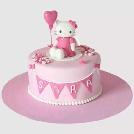 Hello Kitty Birthday Party Red Velvet Cake 1 Kg