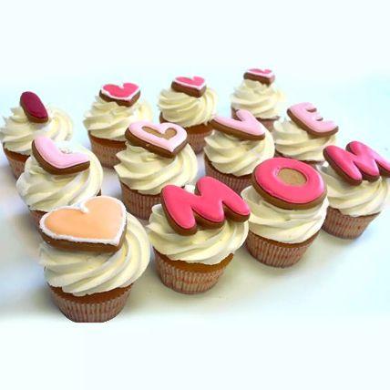 I LOVE MOM Cupcakes