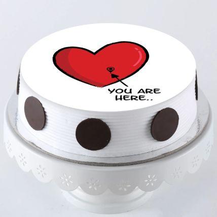 In My Heart Photo Cake 1.5 Kg