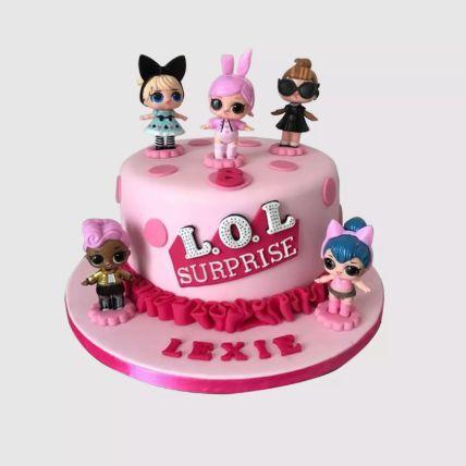 Lol Surprise Dolls Chocolate Cake 2 Kg