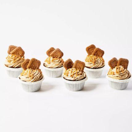 Lotus Biscoff Cup Cakes 12 Pcs