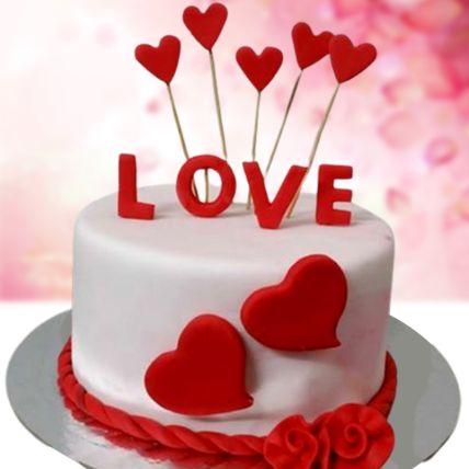Love Special Chocolate Fondant Cake 1.5 Kg
