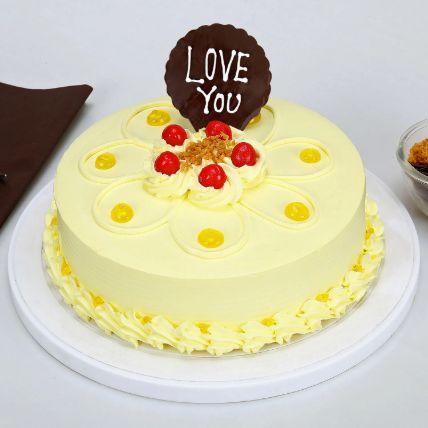 Love You Valentine Butterscotch Cake Half kg