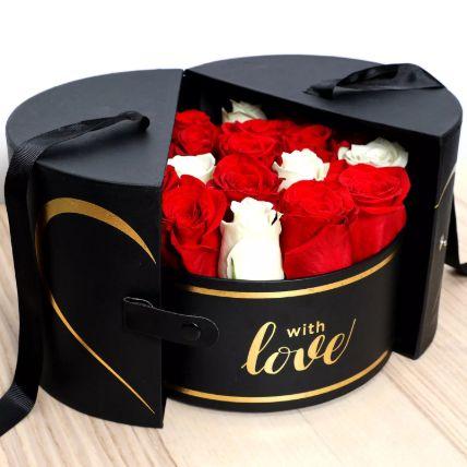 صندوق فاخر من الورد