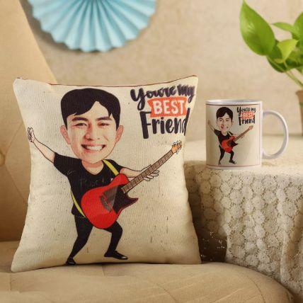 My Best Friend Personalised Cushion & Mug