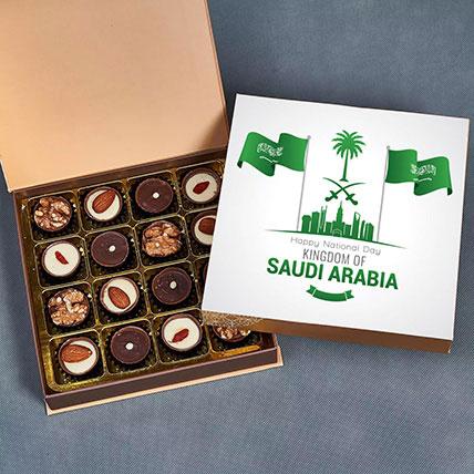 علبة شوكولاتة بلجيكية مشكّلة للعيد الوطني