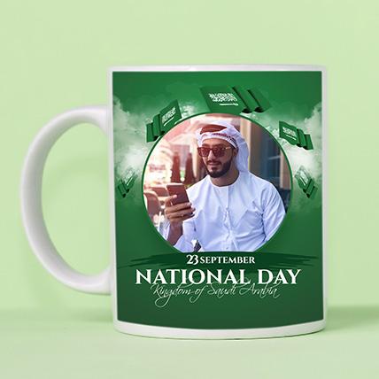 كوب بتصميم خاص لليوم الوطني السعودي
