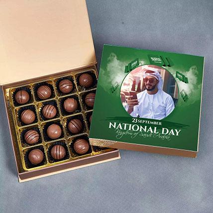علبة شوكولاتة بلجيكية لذيذة للعيد الوطني