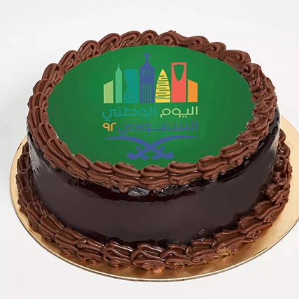 كيكة شوكولاتة ترافل لليوم الوطني السعودية - نصف كجم