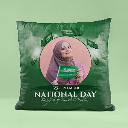 وسادة بتصميم خاصة لليوم الوطني السعودي