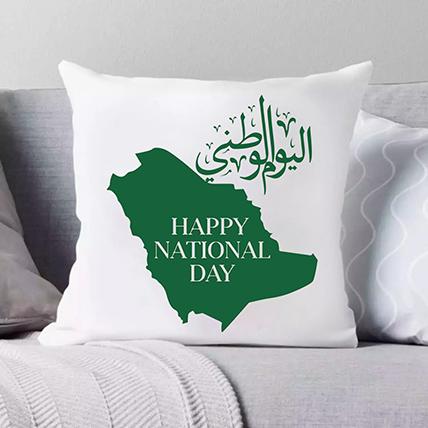 وسادة للتهنئة باليوم الوطني السعودي