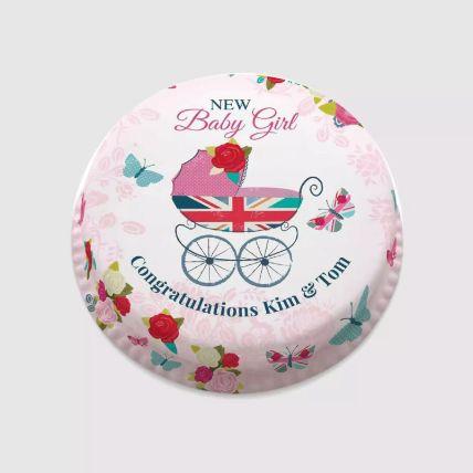 New Baby Girl Photo Cake 1.5 Kg