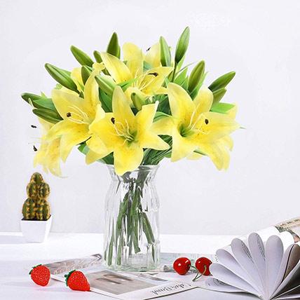 Oriental Charm Lilies Arrangement
